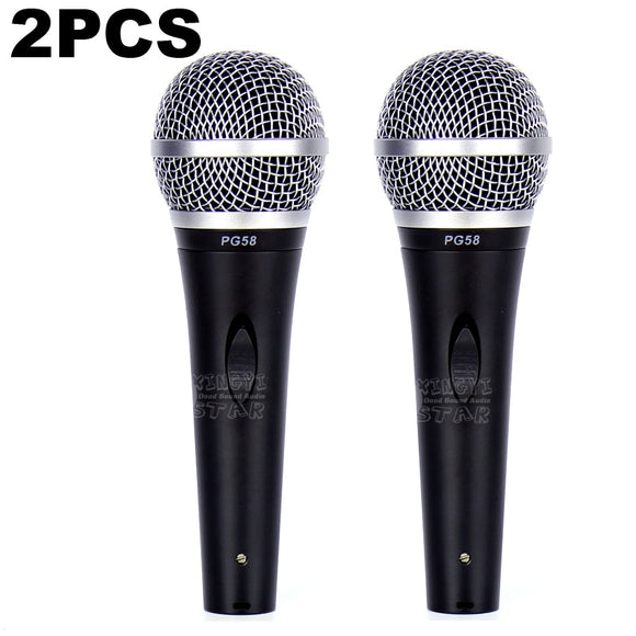 2PCS PG58 Professional Switch Handheld Mic Dynamic Microphone For PGA58 PGA 58 Karaoke Audio Mixer DJ Bar Sing Home Party Speech