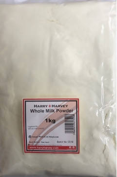 1kg Harry Harvey Dried Milk Powder - Whole, Full Fat 28%