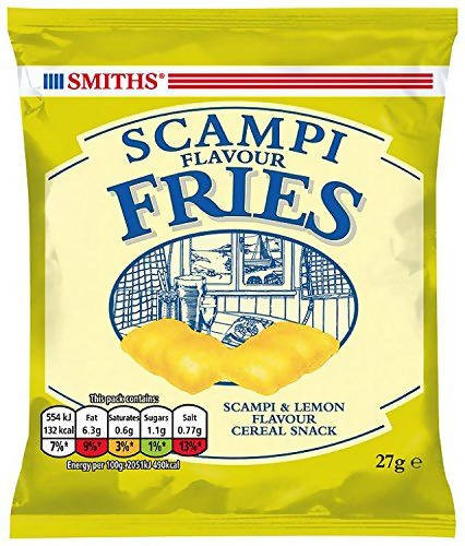 Smiths Scampi Fries Pub Snack Card 24 x 27g