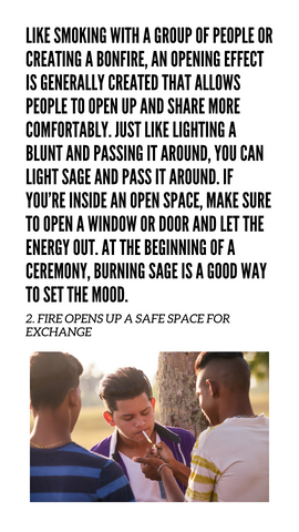 2. Sage opens up the space for others