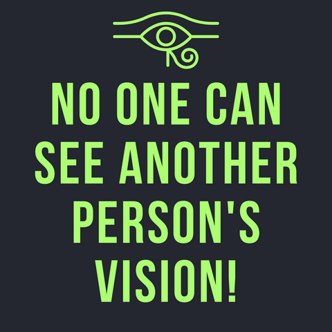 No one can see another person's vision