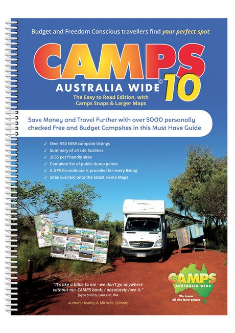 Camps Australia Wide 10 B4 Easy to Read with photos