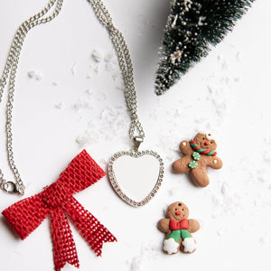 Silver Heart Sublimation Necklace
