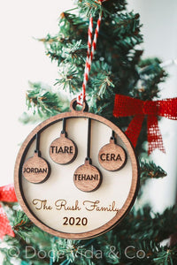 Family Balls Holiday Ornament