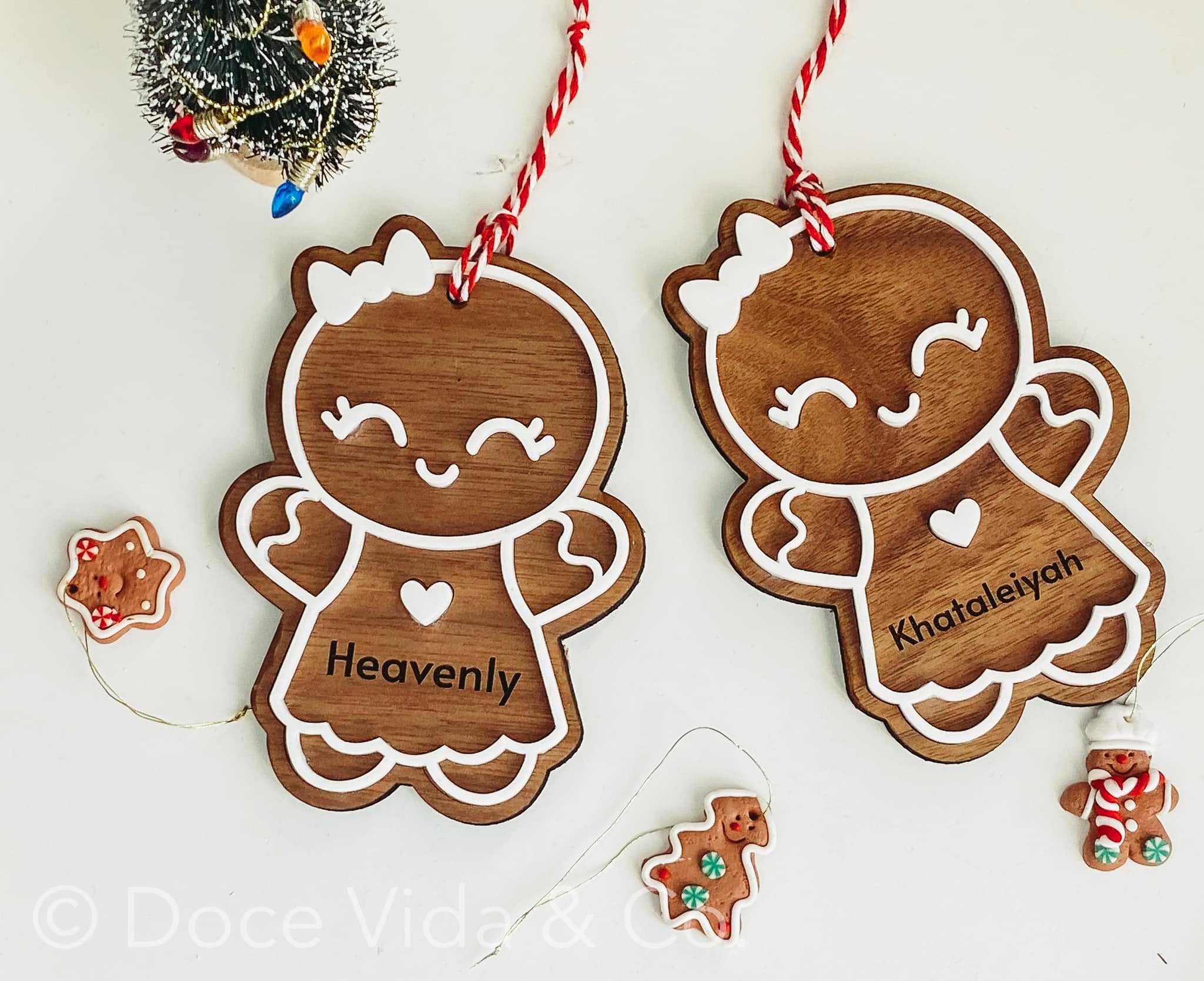 Gingerbread Cookie Personalized Ornament