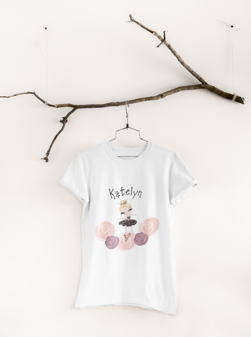 Girls Ballerina Dreams Custom T-Shirt