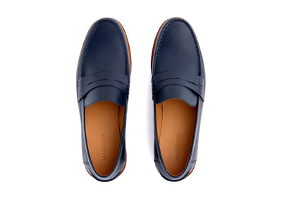 Dark Navy Moccasin