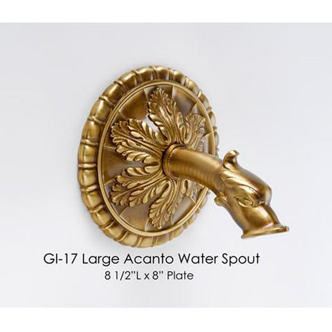 Giannini Garden Large Acanto Water Spout GI-17