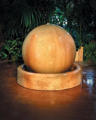 "Phoenix Precast 36"" Wide Ball and Ring Base Concrete Outdoor Fountain G-30F/BFBASE"