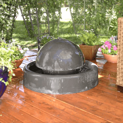 "Phoenix Precast Bell 36"" Wide Concrete Outdoor Fountain G-BELL"