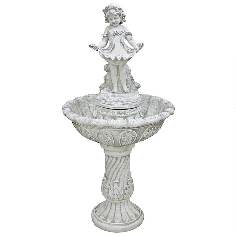 Design Toscano Outdoor Fountains Design Toscano Abigail's Bountiful Apron Cascading Garden Fountain KY3014