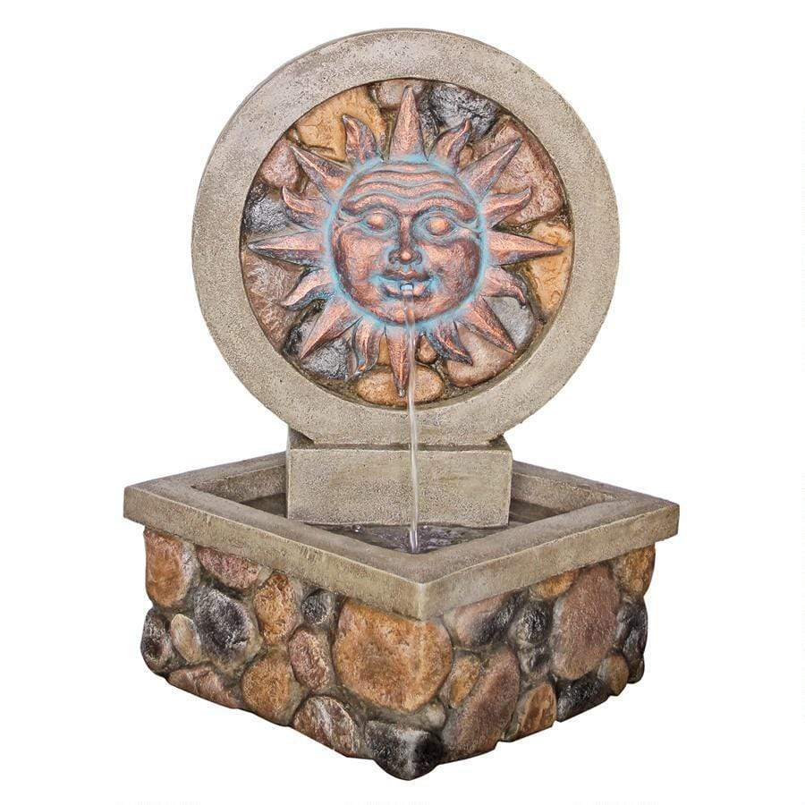 Design Toscano Outdoor Fountains Design Toscano Chapoteo Del Sol Sculptural Garden Corner Outdoor Fountain SS12506