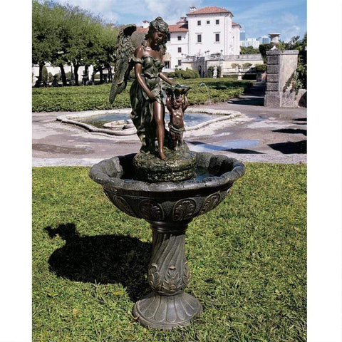 Design Toscano Outdoor Fountains Design Toscano Heavenly Moments Angel Sculptural Fountain KY3002