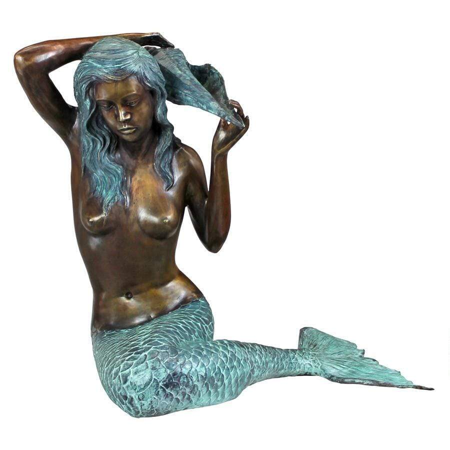 Design Toscano Garden Statues Design Toscano Large Mermaid of the Isle of Capri Garden Statue SU4030