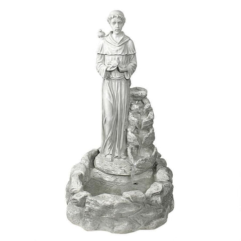 Design Toscano Outdoor Fountains Design Toscano Nature's Blessed Prayer St. Francis Sculptural People Outdoor Fountain KY30367