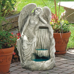 Design Toscano Resting Grace Angel Garden Outdoor Fountain KY2084
