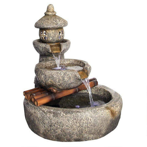Design Toscano Outdoor Fountains Design Toscano Tranquil Springs Pagoda Garden Outdoor Fountain SS12657