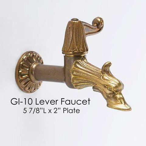 Giannini Garden Outdoor Fountains Giannini Garden Lever Faucet Water Spout GI-10