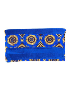 African Trim Royal Blue Bath Towel (Pack of 2 Pcs)