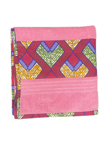 African Trim Pink Bath Towel (Pack of 2 Pcs)
