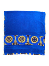 Load image into Gallery viewer, African Trim Royal Blue Bath Towel (Pack of 2 Pcs)