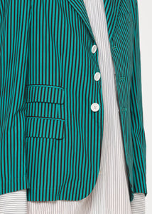 STRIPED LIGHT COTTON BLAZER