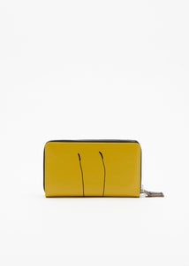 """PILI AND BIANCA"" YELLOW WALLET"