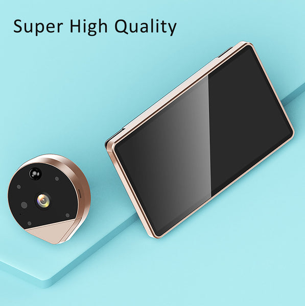 WiFi Video Doorbell Viewer 1080P Door Peephole Camera Viewer 170° Night Vision with 4.3 Inch LCD Screen Monitor APP Smart Home