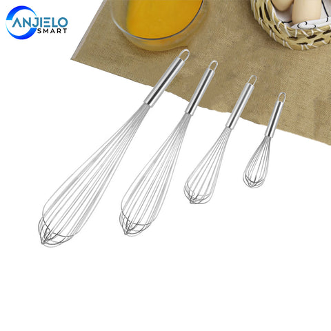 Anjielosmart 10/12/14/16 inch Stainless Steel Balloon Wire Whisk Egg Beater Whisk 3 Packs