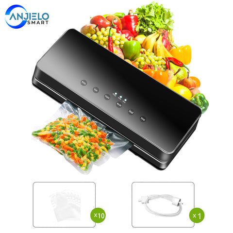 AnjieloSmart Food Saver Vacuum Sealer Machine Automatic Food Sealer Packing Machine