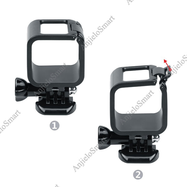 AnjieloSmart Frame Housing Case for Gopro 4 Session Camera Protective Cage Cover Black