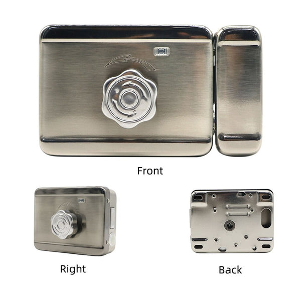 12V Electronic Door Lock Access Control System Silver Security Smart Intelligent Single Head Lock With for Home Intercom System