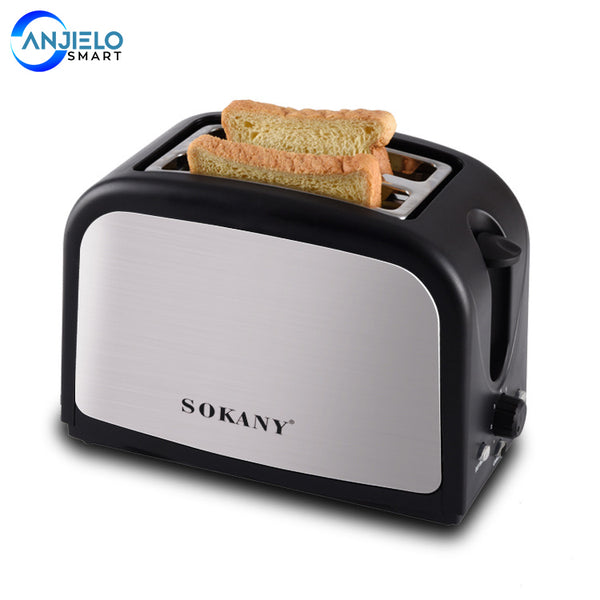 AnjieloSmart 2 Slice Toaster Digital Bread Maker Machine Stainless Steel 7 Shade Settings