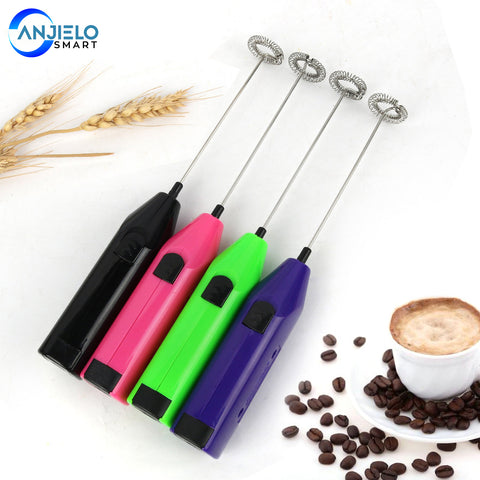 Anjielosmart Electric Cream Whisk Stainless Steel Mini Mixer Handheld Foam Maker