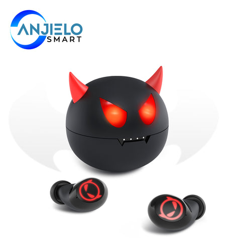 AnjieloSmart Bluetooth Wireless V5.0 Earbuds Sports Stereo Headset Noise Cancelling