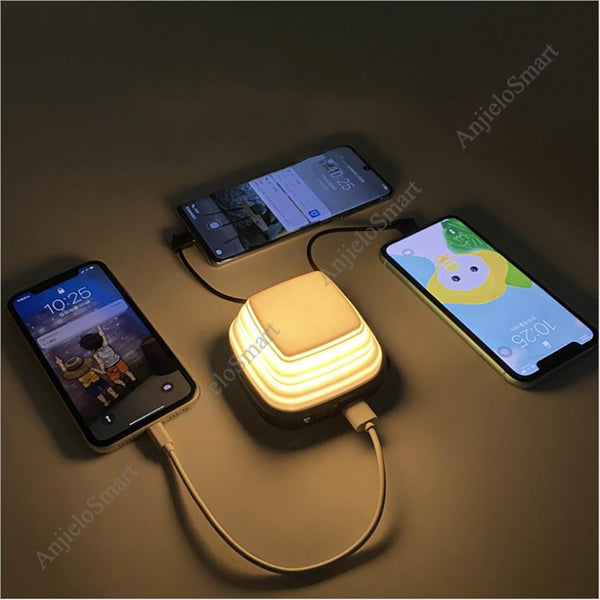 AnjieloSmart 10000mAh Foldable Power Bank Quick Charging with LED Lamp Portable