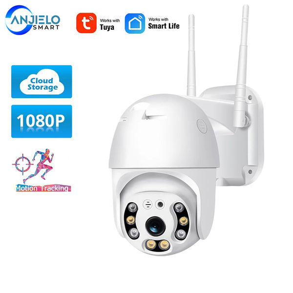 AnjielaSmart IP Surveillance Camera WiFi Camera TUYA Smart App Security Outdoor Wireless 2MP Camera