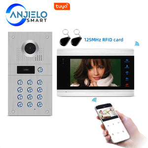 AnjieloSmart Tuya Smart Remote Control WiFi Wired Video Intercom Access Control System Motion Detection