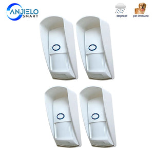 AnjieloSmart  433Mhz Wireless PIR Sensor Infrared Outdoor Motion Detector with Pet Immune