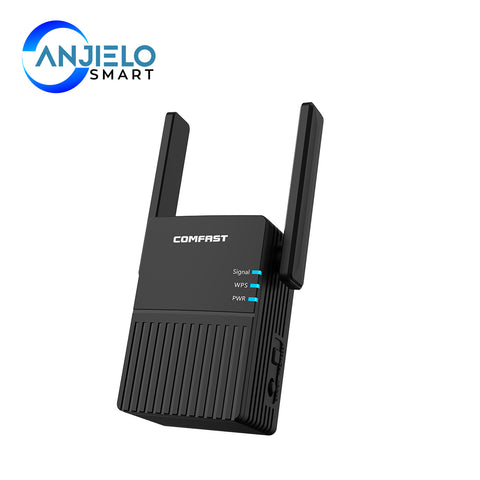 AnjieloSmart WiFi Repeater Signal Extender Wifi Booster with Long Range Coverage
