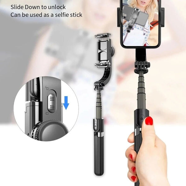 AnjieloSmart 3 IN 1 Handheld Gimbal Stabilizer Mobile Phone Selfie Stick with Holder