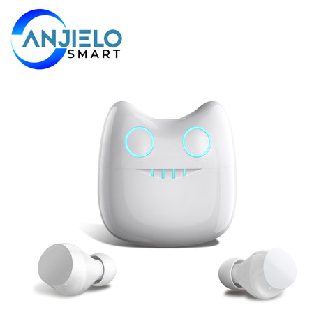 AnjieloSmart Bluetooth V5.0 Wireless Earbuds with Wireless Charging Case Waterproof