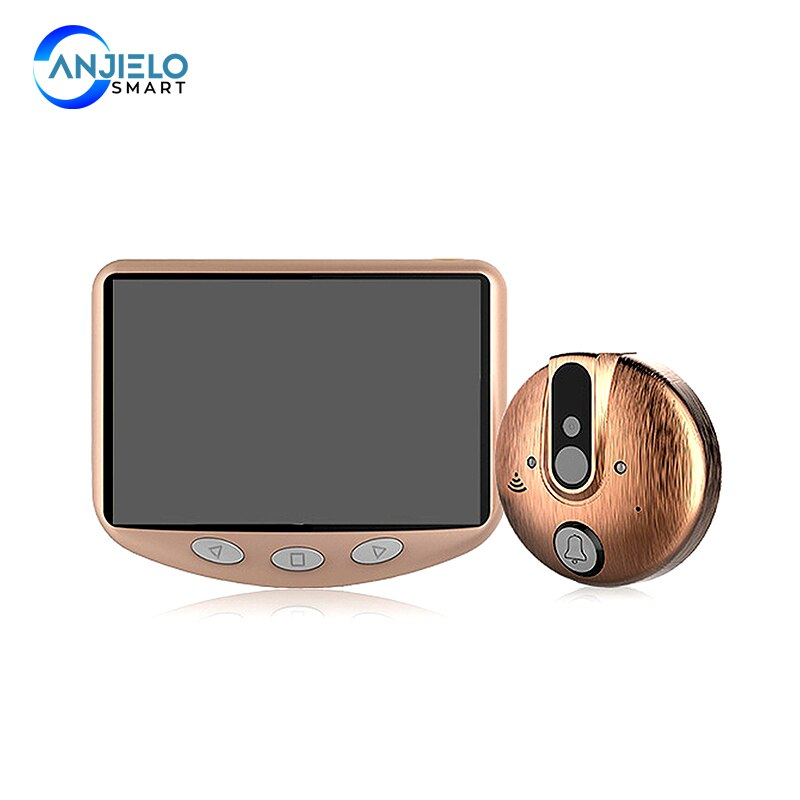 4.3 Inch Video Doorbell  Peephole Door Viewer with Night-Vision Visual Camera 120° wide angle viewing