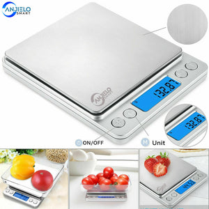 AnjieloSmart Kitchen Food Weight LCD Scale New Electronic Digital Jewelry Scale 0.01g~500g