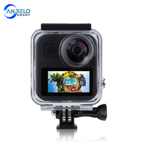 AnjieloSmart Waterproof Housing Case for Gopro Max Action Camera 30M Underwater Diving Protective Shell Cover