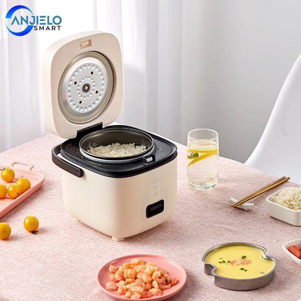 Rice Cooker 1.3 QT One Touch Operation Perfect for Cooking Rice Meat Noodles Soup