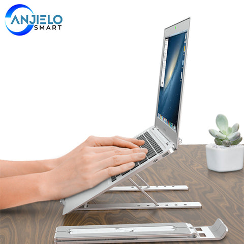 AnjieloSmart Adjustable Folding Tablet Bracket Mount Stand Holder Portable for Laptop iPad