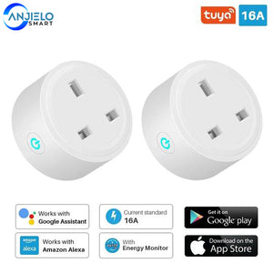 Smart Plug WiFi Socket Tuya SmartLife APP Control Works With Alexa Google(2 pack)
