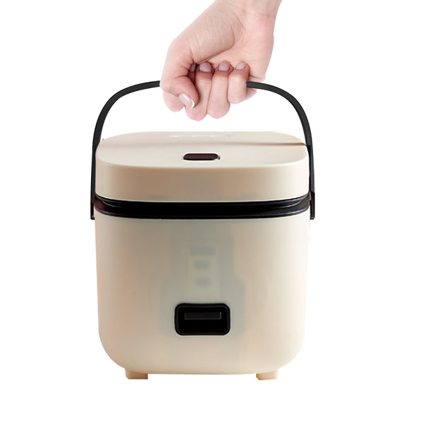 Rice Cooker 1.3 QT with Steamer High-Temperature Protection One Touch Operation Perfect for Cooking Rice Meat Noodles Soup