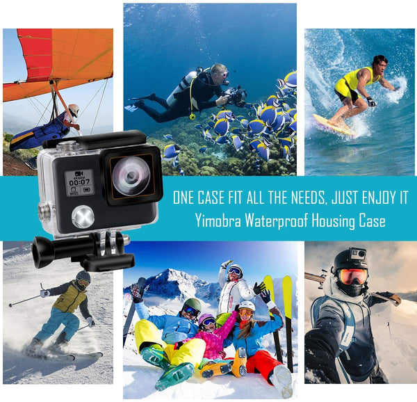 AnjieloSmart Replacement Waterproof Housing Case for GoPro Hero 4 and Hero 3+ Action Camera Protective Housing Shell 45 Meters Underwater Photography